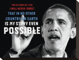 Barack Obama: My Story Stretched Canvas Print