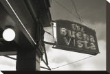 Buena Vista Sign, no. 1 Stretched Canvas Print by Christian Peacock