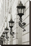 Lamps on Side of Building Reproduction transférée sur toile par Christian Peacock