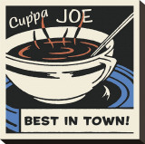 Cup'pa Joe Best in Town Stretched Canvas Print