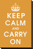 Keep Calm (orange) Stretched Canvas Print