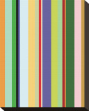 Colorfield Stripe Stretched Canvas Print by Dan Bleier