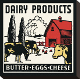 Dairy Products-Butter, Eggs, Cheese Stretched Canvas Print