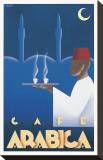 "Café ""Arabica"" Leinwand von Steve Forney"