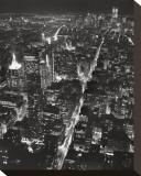 Blick auf Lower Manhattan bei Nacht Bedruckte aufgespannte Leinwand von Christopher Bliss