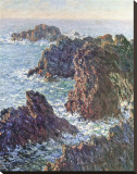 Rock Points at Belle-Ile, c.1886 Stretched Canvas Print by Claude Monet