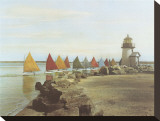 Die Regenbogenflotte Leinwand von H. Marshall Gardiner