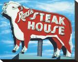 Rod's Steakhouse Sträckt kanvastryck av Anthony Ross
