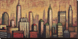 Little Metropolis I Stretched Canvas Print by Timothy Craig