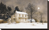 Wolf Moon Stretched Canvas Print by Ray Hendershot