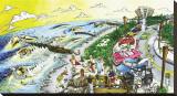 Waverly Stretched Canvas Print by  BOGY (Aaron Bogushefsky)