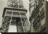 Eiffel Tower Street View, no. 3 Stretched Canvas Print by Christian Peacock