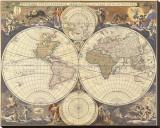 Karte der neuen Welt, 17. Jahrhundert Leinwand von Nicholas Visscher