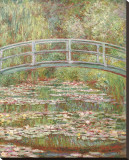 睡蓮の池と日本の橋 1899年 キャンバスプリント : クロード・モネ