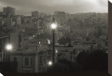 Street Lamp in Russian Hill Stretched Canvas Print by Christian Peacock