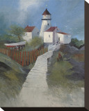 Path to the Lighthouse Stretched Canvas Print by Albert Swayhoover