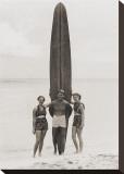 Tom with Kalahuewehe, 1937 Impressão em tela esticada por Tom Blake
