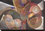 Prismatic Burst Stretched Canvas Print by Marlene Healey