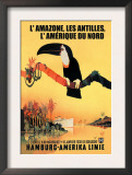 The Amazon, Antilles, and North America: Hamburg-Amerika Cruise Line Prints