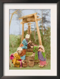 Washing Rice at the Well Poster