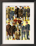 Stylish Boys and Youths with Suits and Coats Art