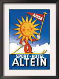 Sport Hotel Altein: Sun-Headed Skier Posters by Seiler