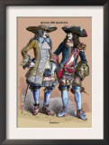 French Cavaliers, 18th Century Poster by Richard Brown