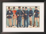U.S. Navy Uniforms 1899 Prints by Werner