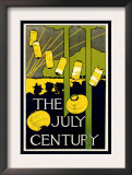 The July Century Poster by Charles Herbert Woodbury