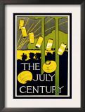 The July Century Poster by Charles Herbert Woodbury