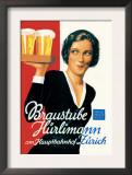 Braustube Hurlimann Hauptbahnhof Prints by Hugo Laubi