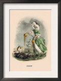 Pavot Prints by J.J. Grandville