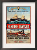 Direct Post Office Shipping Hamburg to New York Print
