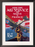 Join the Air Service and Serve in France Posters by Jozef Paul Verrees