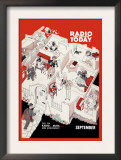 Radio and Television Today: Sell 'Em Radio,Music, For Everybody! Poster