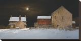 Late Snow Leinwand von Ray Hendershot