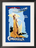 Cinderella at the Theatre Royal Drury Lane Poster by Arthur Benjamin Helsby