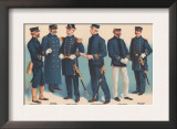 U.S. Navy Uniforms 1899 Posters by Werner