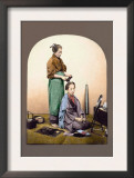 Woman Having Her Hair Done Art by Baron Von Raimund Stillfried