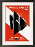 Hamburg-Amerika Cruise Line Poster