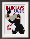 Barclay's Lager: Light or Dark Posters by Tom Purvis