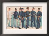 U.S. Navy Uniforms 1899 Prints by  Werner