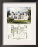 Mansion in the Stuart Style, James I Poster by Richard Brown