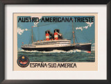 Austro-Americana Trieste Cruise Line Art