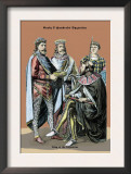 King of Byzantine, Sixth Century A.D. Prints by Richard Brown