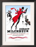 Figure-Skating in a Red Dress Posters