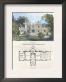 Villa in the Florentine Style Print by Richard Brown