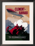 Clement-Bayard, French Dirigible Prints by Ernest Montaut