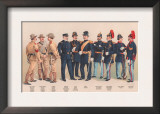 Uniforms of 7 Artillery and 3 Officers, 1899 Poster by Arthur Wagner