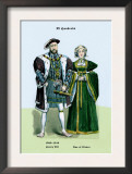 Henry VIII and Ann of Cleeves Print by Richard Brown